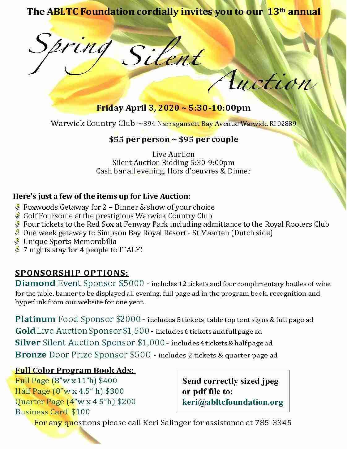 Silent Auction New Date September 24th Ri Elder Info